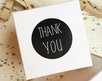 Thank You Stickers Pk20 - Black / White
