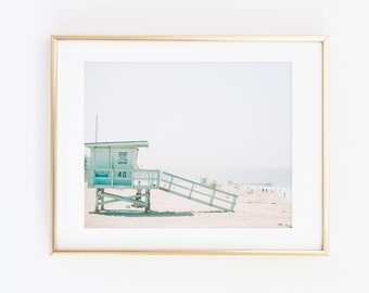 Lifeguard Tower Photography, Beach Life, Beach Print, Nautical Print, Beach Photography, Coastal Home Decor, Contemporary Photo Art Print