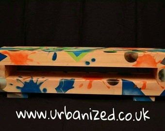 "Graffiti Solid Wood TV Unit ""Abstract""Range Urban Style"