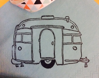 20 Turquoise Camper Napkins