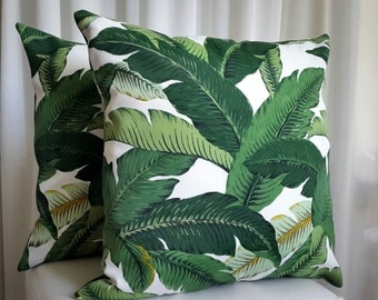 Island Palms 45cm Square Cushion Cover Outdoor Indoor