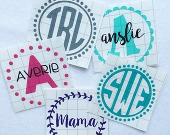 Monogram Decal, Custom Decal, Car Decal, Yeti Decal, Laptop Decal, Tumbler Decal, personalized decal, vinyl decal, vinyl sticker