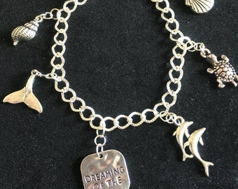 Swimming Free charm bracelet