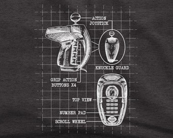 Colecovision Super Action Controller Blueprint - Gamer T-Shirt