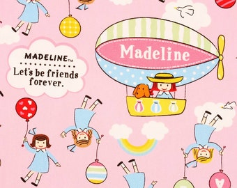 "Madeline Fabric made in Japan, 45cm by 53cm or 18"" by 21"""