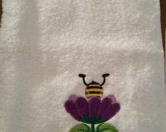 Hungry Honey Bee Hand Towel