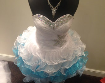 Party dress custom made any size and colours