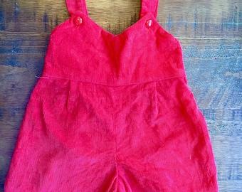 vintage infant red corduroy jumper