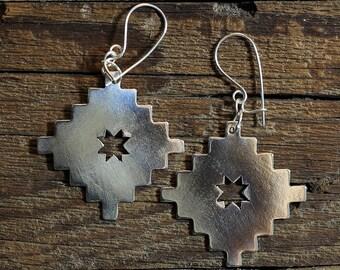 Lautaro star, sterling silver earrings