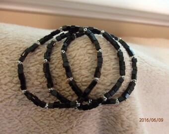 Czech beaded bracelet 7 inch, set of 3