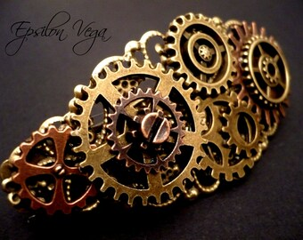 Steampunk mechanical hairclip