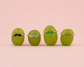 Tasha Moustache Stack Rings