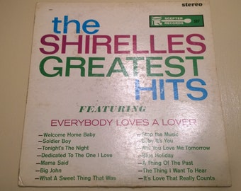 The Shirelles Greatest Hits Stereo LP Vinyl (1963) Sceptor Records