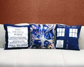 Doctor Who Cushion Covers (Set of 3)