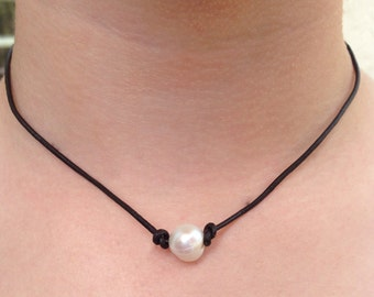 Single pearl necklace- fresh water pearl