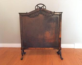 Vintage Brass Art Nouveau Fireplace Screen