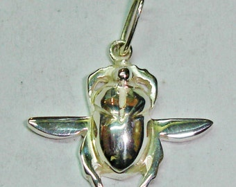 Egyptian scarab pendant sterling silver, Egypt