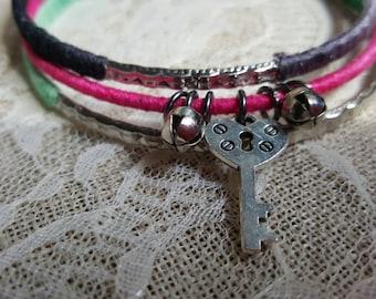 Bangle bracelet charm set - bangle bracelet set - charm bracelet set - gypsy charm bangles - gypsy charm bracelet - charm bangle bracelet