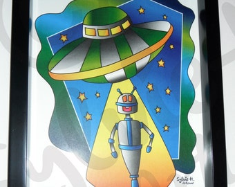 Robot - with frame - 8 x 10-100 copies only