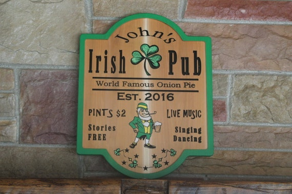 Irish Man Cave Signs : Custom pub sign bar irish man cave