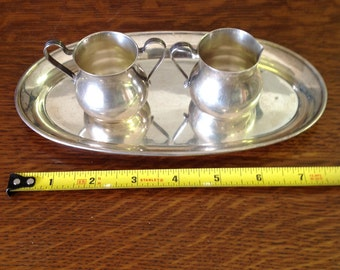 Webster Creamer and Sugar with Tray
