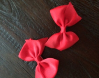 Red bows (2) with Clip