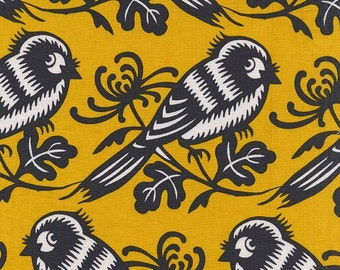 Michael Miller - Seedling Collection - Chirp - Sunx- By Thomas Paul - 100% Cotton Fabric by the Yard - You Choose the Cut
