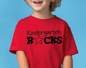 Back To School Kindergarten Rocks Boys TShirt Shirt FREE Shipping