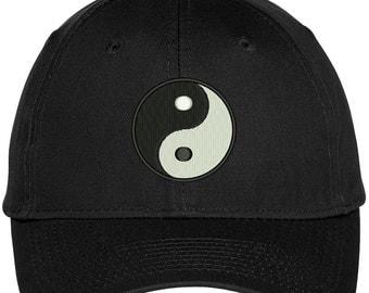 Chinese YIN YANG Dark Bright Embroidered Adjustable Baseball Cap - 4 Colors! (LOG009-OTC-27-079)