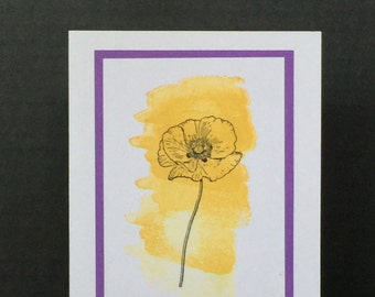 Handmade Greeting Cards-Just A Poppy (Set of 6 Cards) Notecards