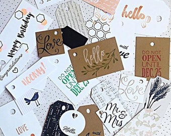Surpise me! Assorted hang tag set of 10, gift tags.