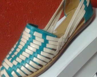 Mexican handcrafted leather huaraches size 7 & 8