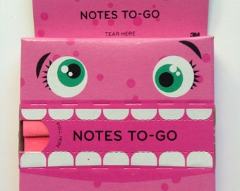 Post-It Notes To-Go - Pop-up Notes - 100 Sheets - 3 x 3 in - Pink or Blue