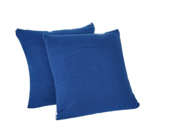 CushyChic Outdoor Slipcovers for Two (2) Dining Pillow Backs in Nautical Blue