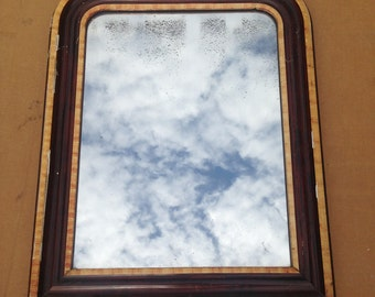 Former mirror in wood and glass