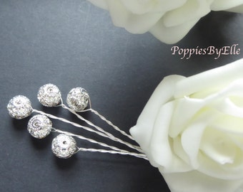 Silver Diamante Crystals, for that extra sparkle, glitter balls, silver wire, bridal, floral, bridesmaids bouquets