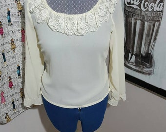 SALE: Vintage Firty Frilly  French Blouse
