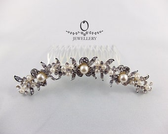 Sparkling Pearls Hair Comb