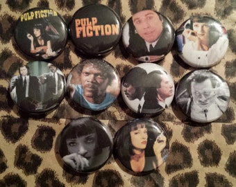 Pulp Fiction Button set of 9