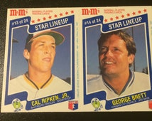 1987 M&M's Star Lineup Cal Ripken, Jr. (Orioles) Card #13 of 24 - George Brett (Royals) Card #14 of 24 - Listing Expires November 18, 2016