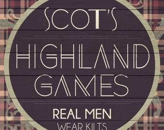 Custom Highland Games Sign Digital Download