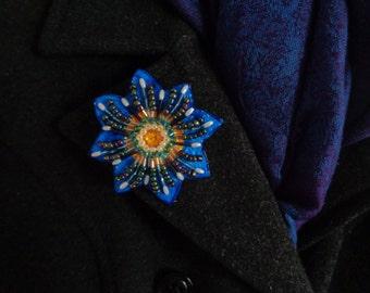 Blue Blossom - Pin
