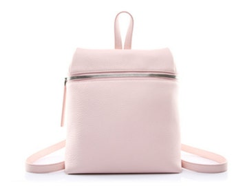 Leather 'zip forehead' backpack