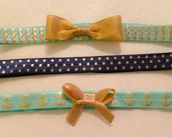 Baby headband, fold over elastic headband, infant headbands