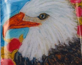 Ceramic Tile Magnet - Bald Eagle