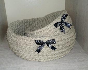 Crochet baskets 2 pieces