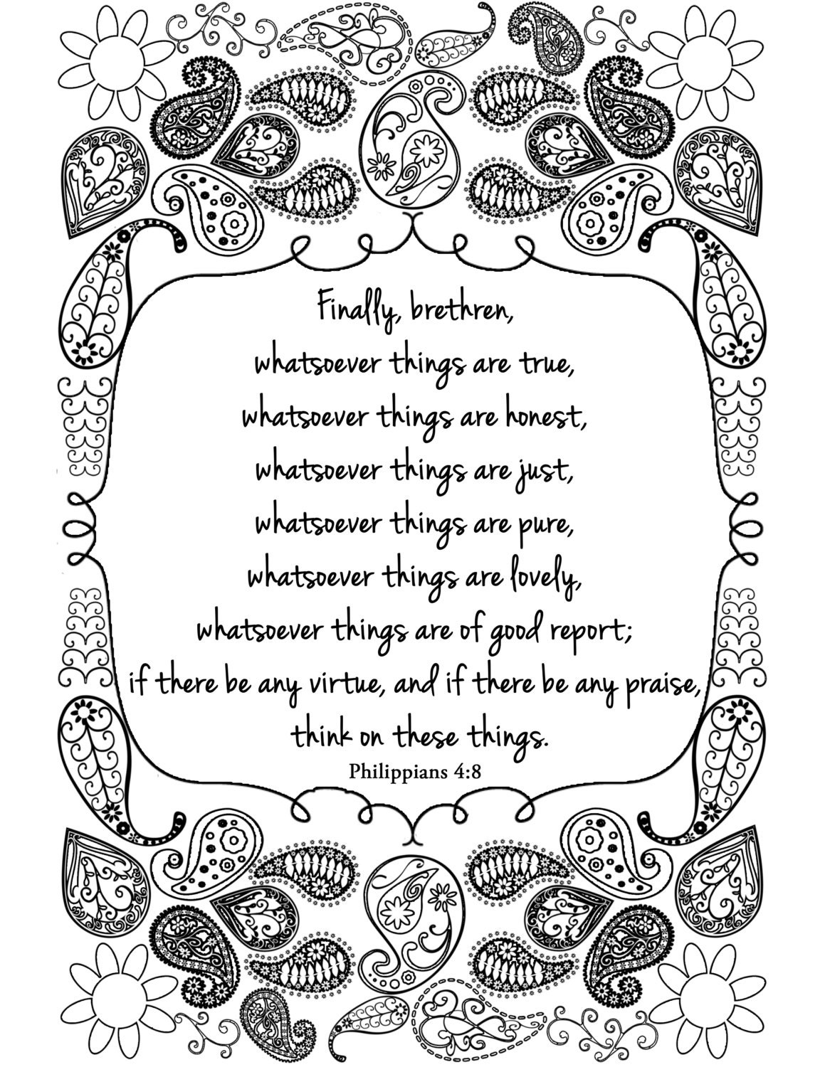Philippians 4 13 kjv coloring pages coloring pages for Kjv coloring pages