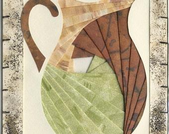Handmade Thinking of You Greeting Card - Iris folded Pitcher v.12