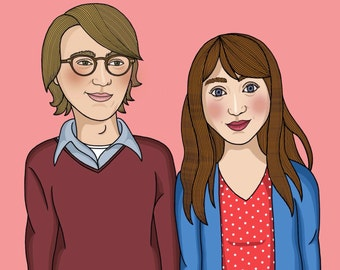 Ruby and Calvin Ruby Sparks Illustration Matte Coated Illustrated Print