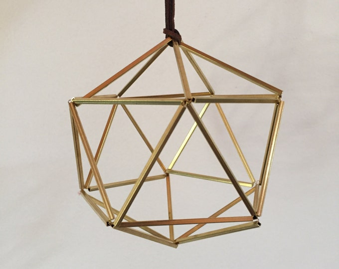 Featured listing image: Geodesic Himmeli Ornament